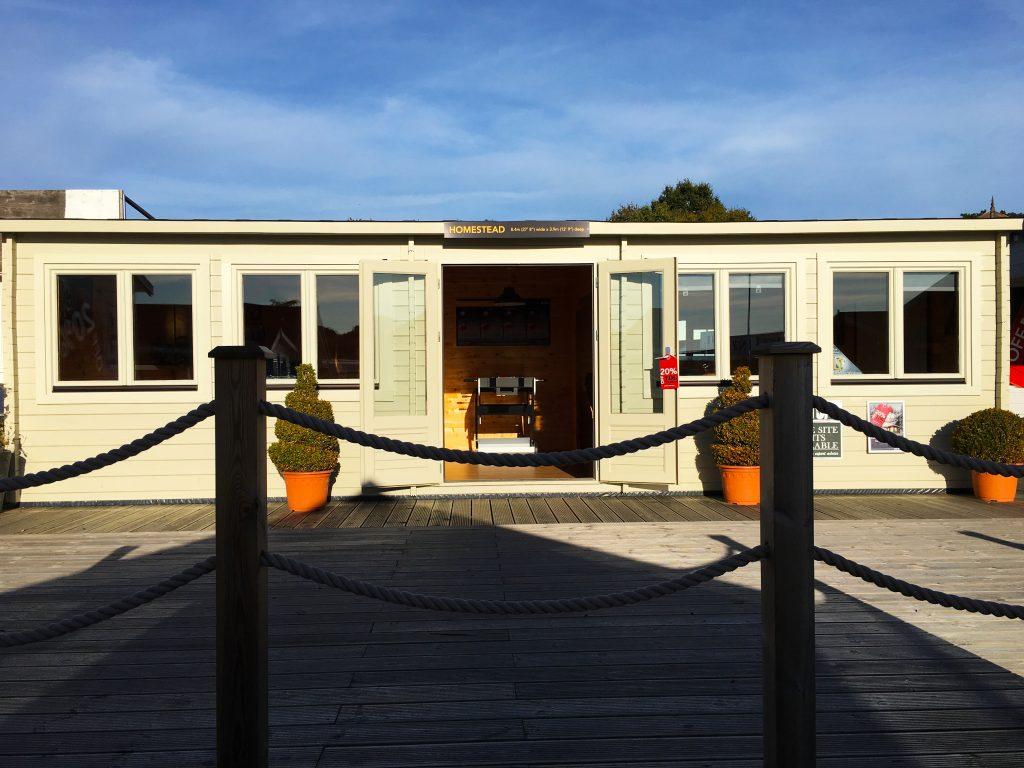 The Homestead - Large Multi-Use Log Cabin » Johnsons Garden Buildings