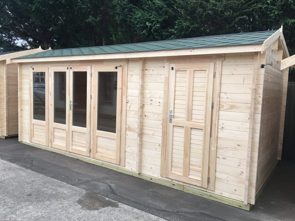 The vancouver st1 cabin with added storage johnsons for Garden office and storage